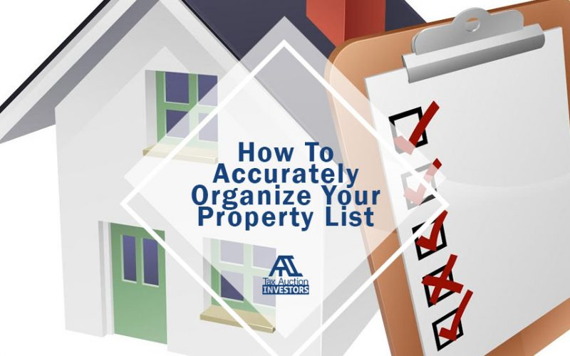How to Accurately Organize Your Property List